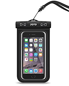 "Universal Waterproof Case, JOTO CellPhone Dry Bag Pouch for Apple iPhone 7/7 Plus/6S/6/6S Plus/SE/5S, Samsung Galaxy S8/S8 Plus/Note 6 5 4, Google Pixel HTC LG Sony MOTO up to 6.0"" -Black"