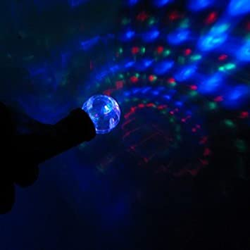 SPIKEY LIGHT UP LED BATON BALL BOUNCING STICK GLOW DISCO FUNKY GLOWING ORB