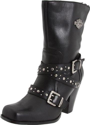 Grain Leather Mid Calf Boots Cement Construction Rubber sole