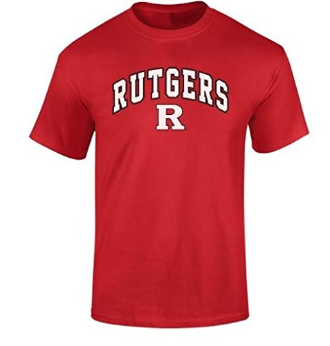 Rutgers Scarlet Knights Mens NCAA T Shirt Team Color ArchNCAA T Shirt Team Color Arch, True Red, Large (Rutgers T-shirts)