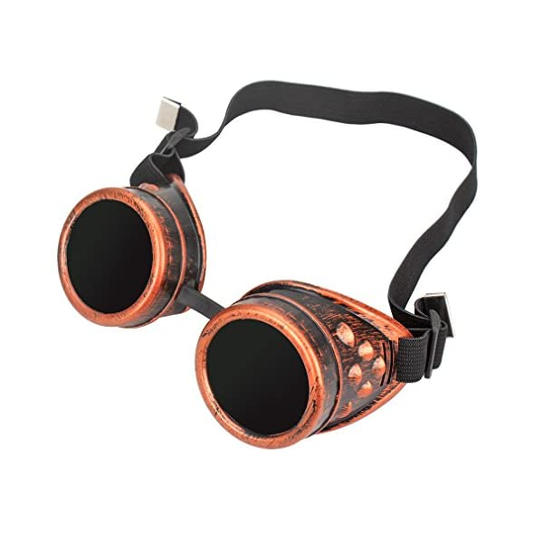 FASOTY Retro Vintage Steampunk Goggles Glasses Welding Cyber Punk Gothic Cosplay Party Goggles 3