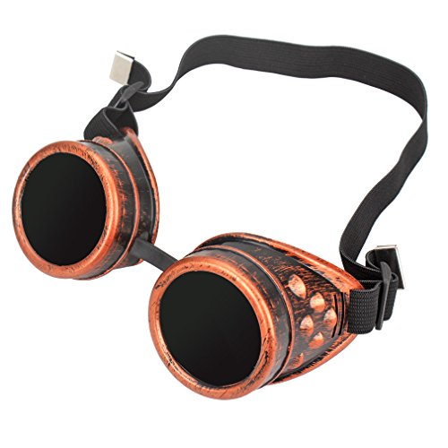FASOTY Retro Vintage Steampunk Goggles Glasses Welding Cyber Punk Gothic Cosplay Party Goggles