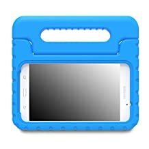 MoKo Samsung Galaxy Tab A 7.0 Case - Kids Shock Proof Convertible Handle Light Weight Super Protective Stand Cover Case for Samsung Galaxy Tab A 7.0 Inch Tablet SM-T280 / SM-T285 2016 Release, BLUE