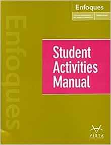 Enfoques 4th Edition curso intermedio de lengua espanola.