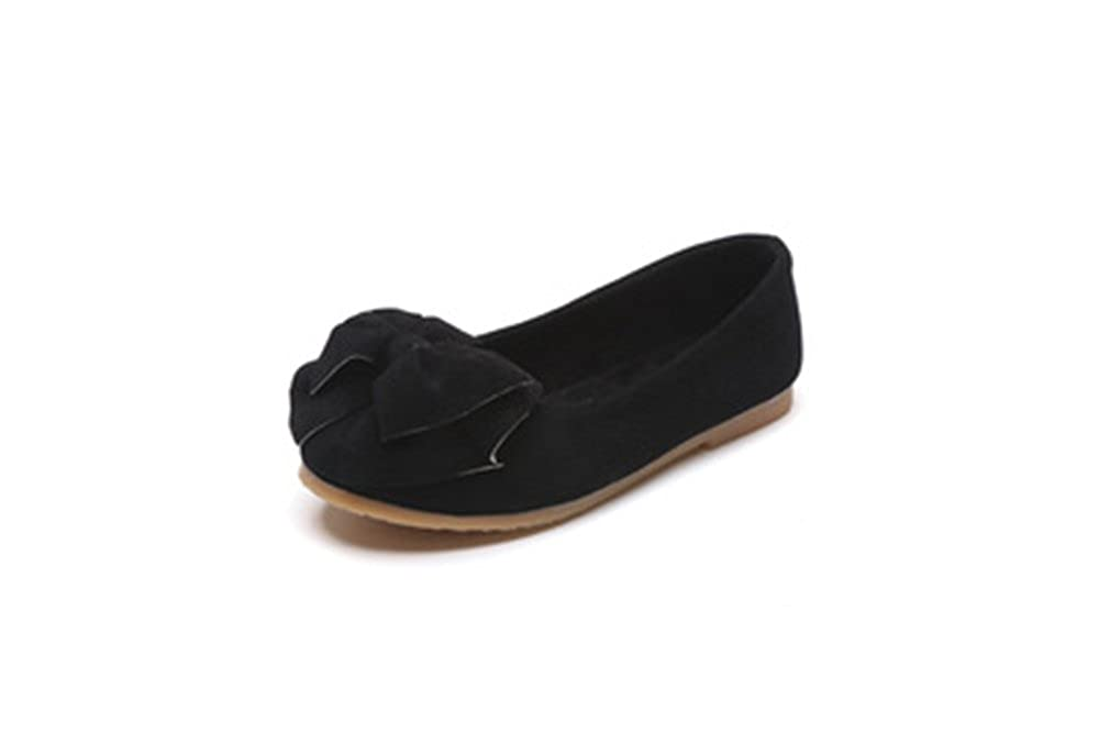 Girls Bowknot Shoes Baby Kids Girls Fashion Princess Dance Nubuck Single Shoes