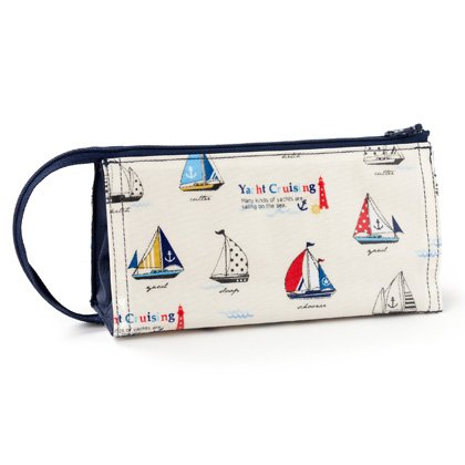 Rocked in The Pen Case Pen Pouch Sea Breeze and Yacht Cruising N5058100[Parallel Import from Japan]