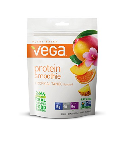 Vega Protein Smoothie, Tropical Tango, 9 oz, 11 Servings