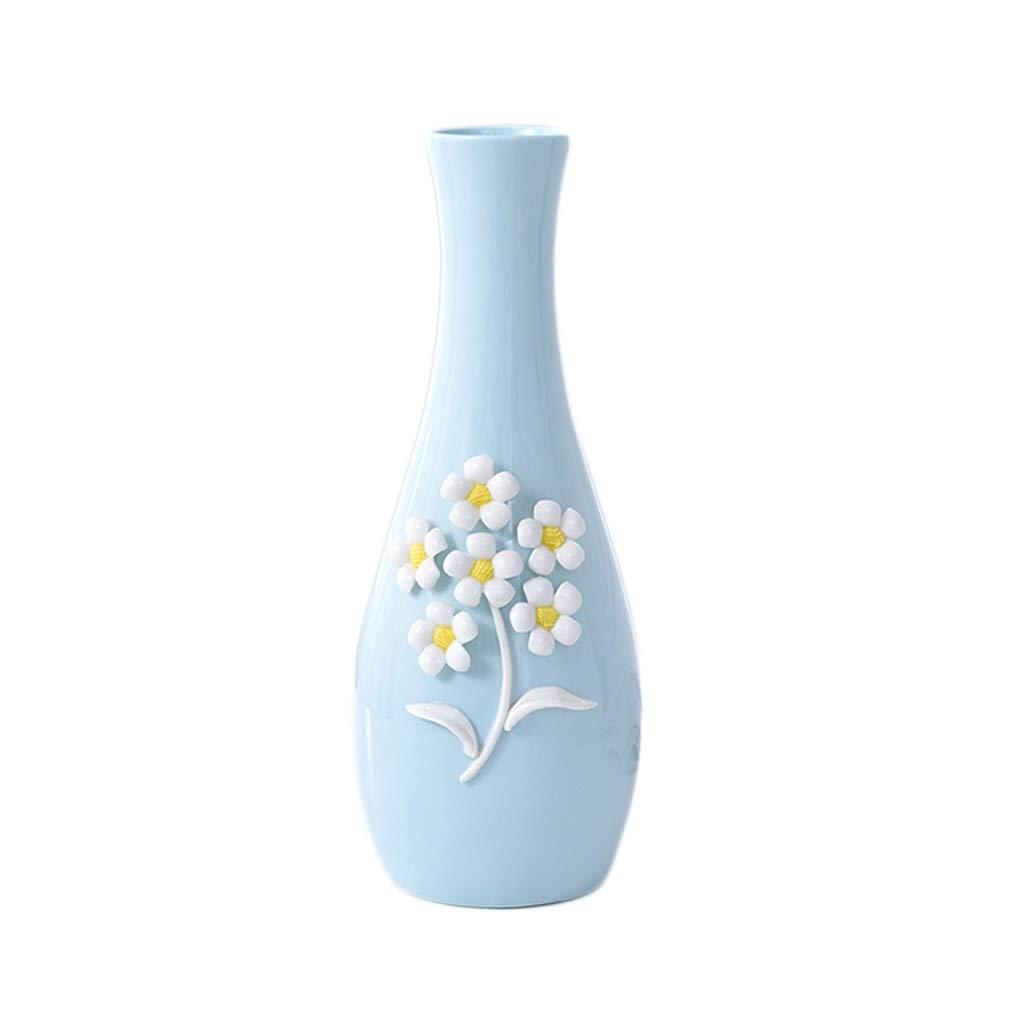 花瓶 セラミック花瓶手作り工芸品三次元ピンチフラワーホーム寝室の装飾(30 * 12 cm) B07RJPFM9Q