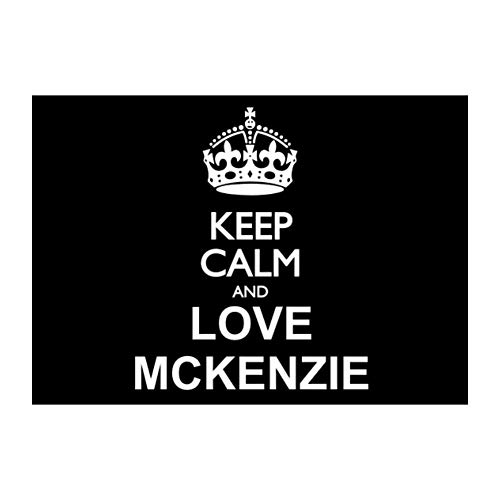Mckenzie Bumper - Idakoos Keep Calm and Love McKenzie Sticker Pack x4 6