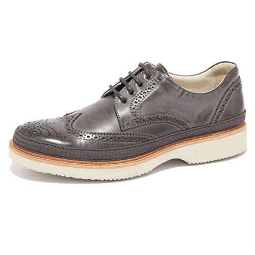 3839Q scarpa uomo HOGAN ROUTE DERBY grigio grey shoe men piombo