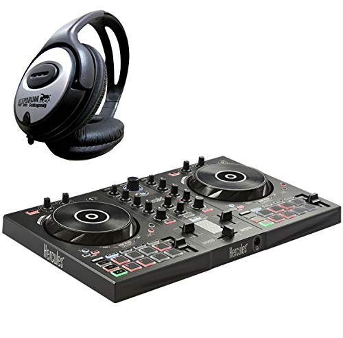 Hercules DJControl Inpulse 300 – Controlador de DJ de 2 plazas (incluye auriculares Keepdrum)