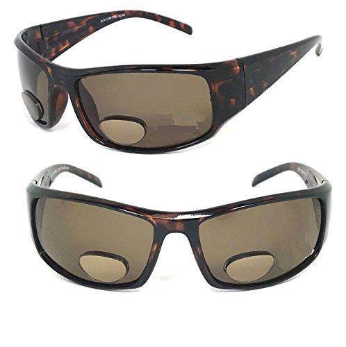 Glass Amber Shiny Tortoise (Shiny Tortoise Brown Frame Amber Lens Polarized Bifocal Vision Reader Reading Sunglasses - Choose Power Strength (Shiny Tortoise Brown, 2.50))