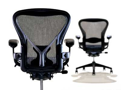 [Aeron Chair by Herman Miller - Home Office Desk Task Chair Fully Loaded Highly Adjustable - Classic Dark Carbon Mesh PostureFit Lumbar Back Support Cushion Graphite Frame] (Herman Miller Mesh Chair)