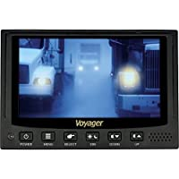 Voyager VOM74WP Heavy Duty 7 QuadView Multi-Screen Rear/Back View Color LCD Monitor with 4 Camera Inputs and 6 Triggers; Single Image, Split-Screen, or QuadView View Modes; Built-In Audio Speaker