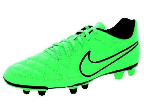 Nike Tiempo Rio II FG - Chanclas de sintético para hombre Green Strike/Black-Black