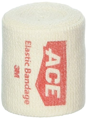 ACE Elastic Bandage With Clips Customized Compression, 2-Inch Width, 3-Pack, America's Most Trusted Brand of Elastic Bandages, Money Back Satisfaction Guarantee ()