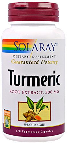 Solaray Guaranteed Potency Turmeric Root Extract 300 mg VCapsules, 120 Count