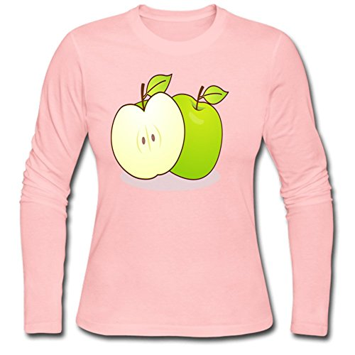 Green Apple Heavy Cotton Women's Long T Shirt L Pink