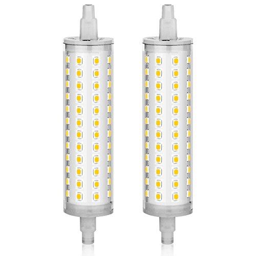 KINDEEP 2pcs 118mm R7S LED Bulb 75W-100W Halogen Equivalent, AC 110V-130V, J Type R7S Base, Daylight White 6000K, 2-Pack
