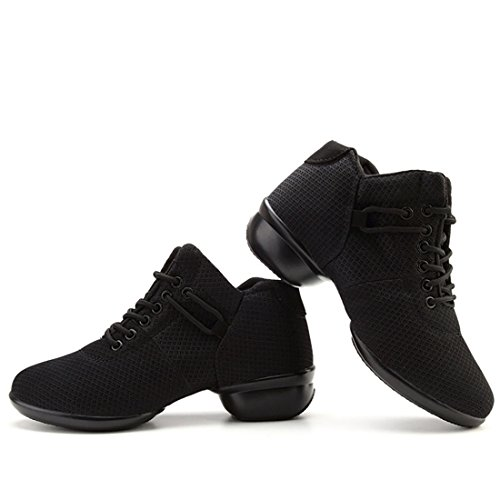 Schwarz Fitness Dancesneaker Training Sport Tanz Damen YIBLBOX Tanzschuhe Turnschuh Tanzsneaker Schuhe jazzdance Websneaker Sga7x