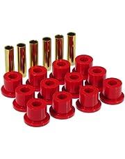 Prothane 7-1001 Red Rear Spring Eye and Shackle Bushing Kit