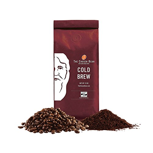 The Chosen Bean Cold Brew Coffee Ill-mannered Ground Premium Guatemalan Ethiopian Blend Medium Dark Roast Micro Roasted Low Acidity 12oz Kosher for Passover