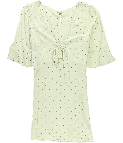 - Free People All Yours A-LINE Mini-Dress White(Cream Combo) Polka dot 12