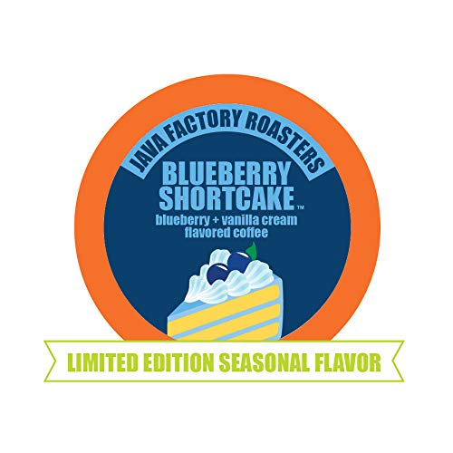 Java Factory Blueberry Shortcake Single-Cup Coffee for Keurig K-Cup Brewers, 40 Count Blueberry Streusel Coffee Cake