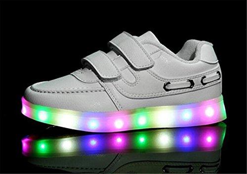 (Present:kleines Handtuch)JUNGLEST® 7 Farbe USB Aufladen LED Leuchtend Sport Schuhe Sportschuhe Sneaker Turnschuhe für Unisex-Erwa c18