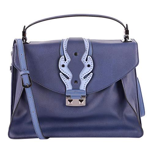 75b00395 U280 Jeans Ecoleather Handle Bag Borsa Trussardi Blue Anice YqfFz60zOW
