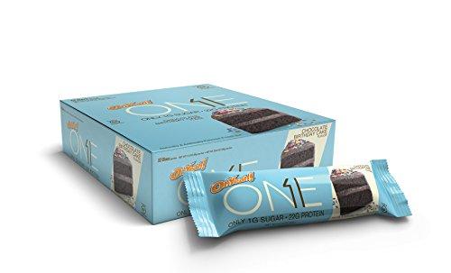 ONE Protein Bar, Chocolate Birthday Cake, 22g Protein, 1g Sugar, 12-Pack