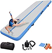 DAIRTRACK IBATMS Air Tumbling Mat,13ft Inflatable Gymnastics Mats Tumble Track, Training Mats with Air Pump fo