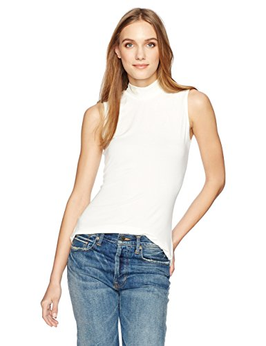 Essentialist Women's-Sleeveless Mock Turtleneck Knit Top