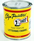 1Shot Sign Lettering Paint - Polar White - 4 Ounce Can