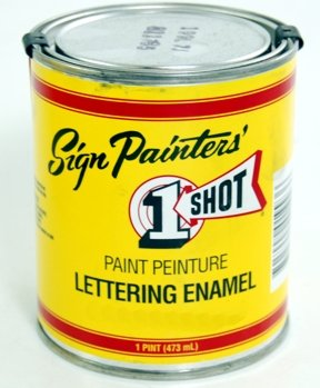 One Shot Lettering Enamel - 1-Shot 199-L Lettering Black 8 Oz