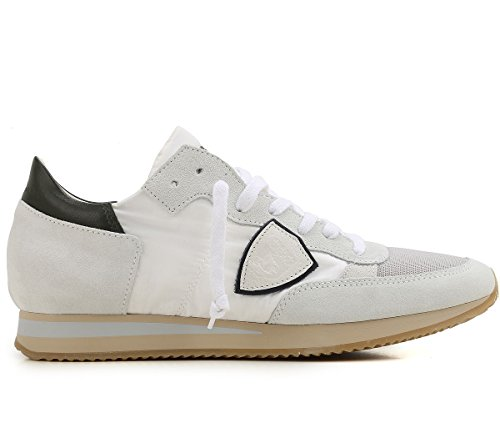 Philippe Model Herren Sneaker Weiß Bianco + Argento