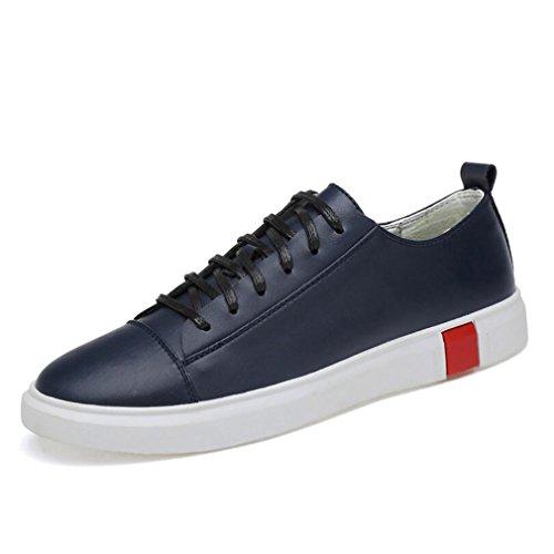 Hommes De De Blue De Course Chaussures Printemps White 40 Sport Cuir Homme Chaussures Automne Hommes Sport Chaussures Non Slip Black Sneakers Blue WBZ4X8wxqn