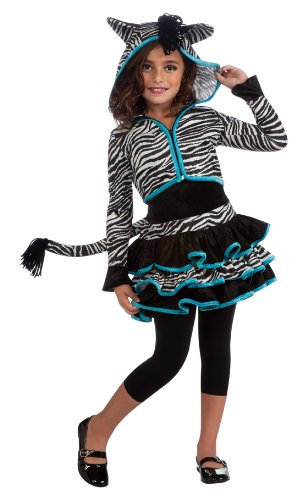 [Drama Queens Zebra Hoodie Costume, Large] (Costumes For Drama)