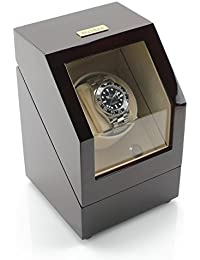Battery Powered Single Watch Winder in Cherrywood