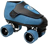VNLA Code Blue Jam Skate - Mens & Womens Speed Skates - Quad Skates for Women & Men - Adjustable Roller Skate/Rollerskates - Outdoor & Indoor Adult Quad Skate - Kid/Kids Roller Skates (Size 3)
