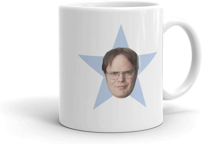 The Office Dwight Star White Mug - 11 oz. - Official As Seen On Mug