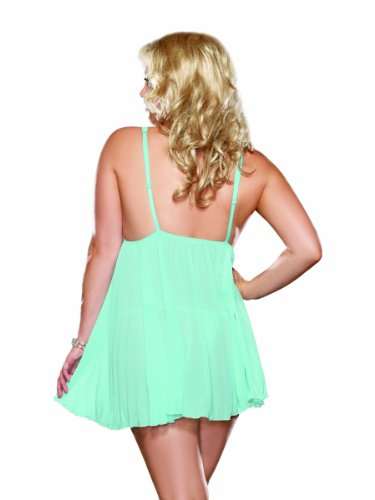 Dreamgirl Women's Plus-Size Sheer Enticement Babydoll