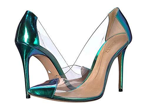 SCHUTZ Womens Cendi Transparent/Holographic 5.5 M