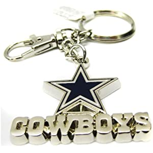 Amazon.com: Dallas Cowboys Equipo Color NFL fútbol llavero ...