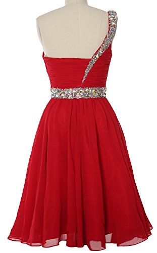 MACloth Shoulder Gown Dress Bellini Short Formal Gorgeous Prom One Homecoming Party rqArEZ