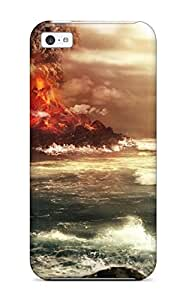 MEIMEI4356944K48726713 premium Phone Case For iphone 6 plus 5.5 inch/ Volcano Erupts Desktop Tpu Case CoverMEIMEI