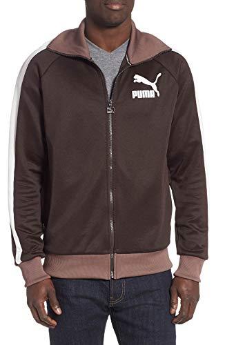 Mens Vintage Track Jacket - PUMA Men's T7 Vintage Track Jacket, Molé-Whisper White-Peppercorn, XX-Large