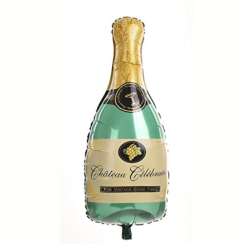 Gracefulvara Champagne Bottle Foil Balloon Happy Birthday Wedding Party Decor -