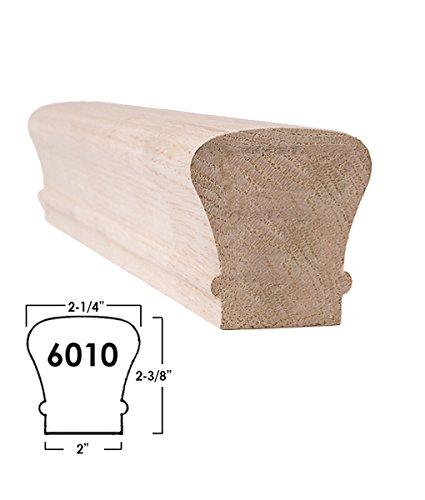 Red Oak 6010 Slim Series - 8 ft. Wooden Staircase Handrail for Stair Remodel (Oak Stair)