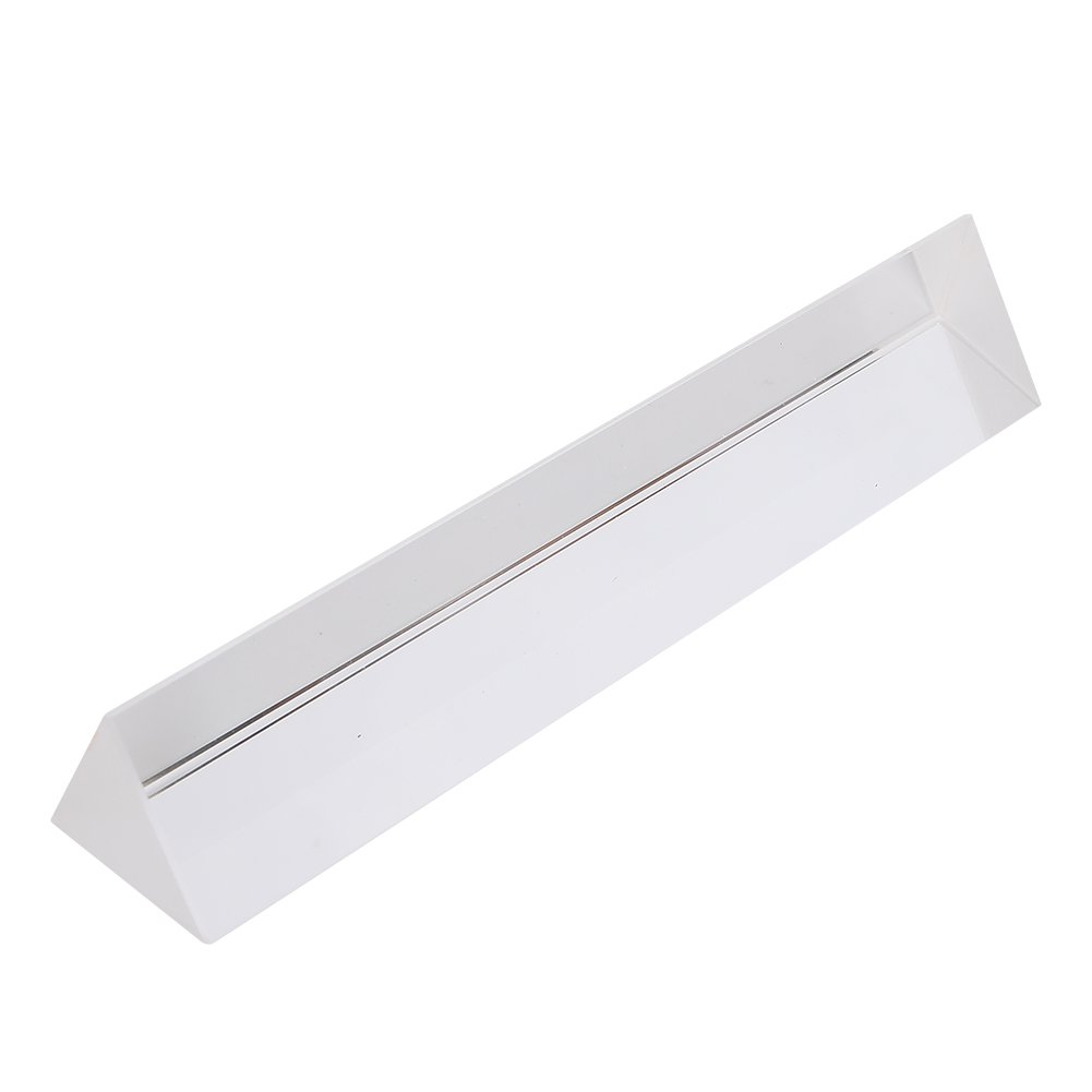 6 inch Crystal Optical Glass Triangular Prism for Teaching Light Spectrum Physics and Photography Effects